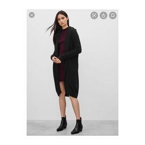 Aritzia Talula LOOSHEN Long Hooded Cardigan Pocket